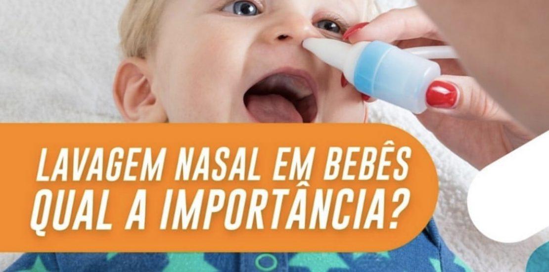 lavagem nasal em bebês