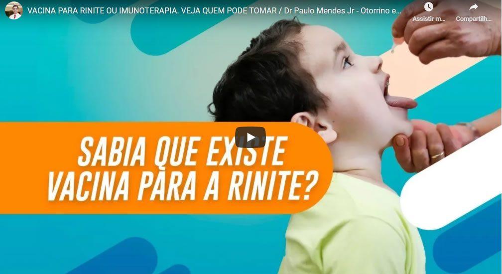 vacina para a rinite