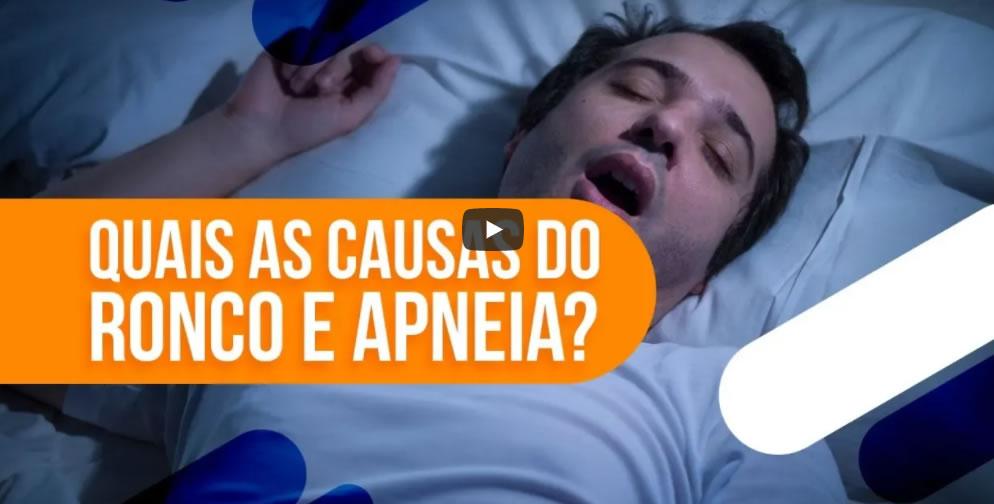 principais causas do ronco e apneia do sono
